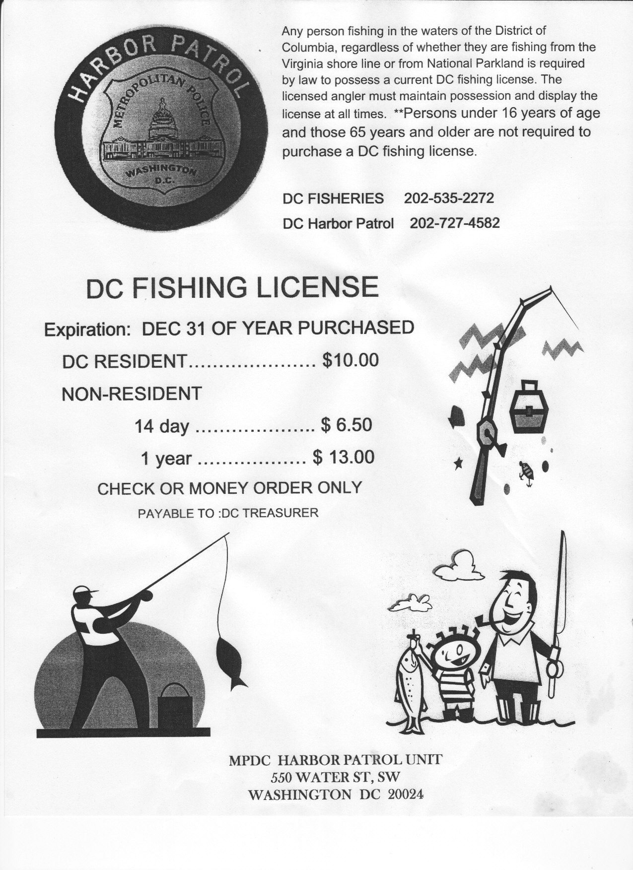 dc fishing regulations 2007